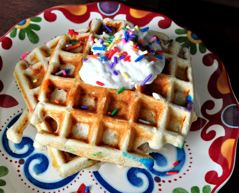 MuscleEgg Protein Cake Batter Funfetti Waffles