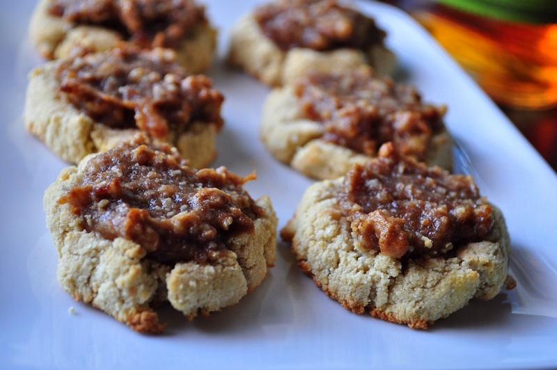 Paleo Pecan Bourbon Cookies