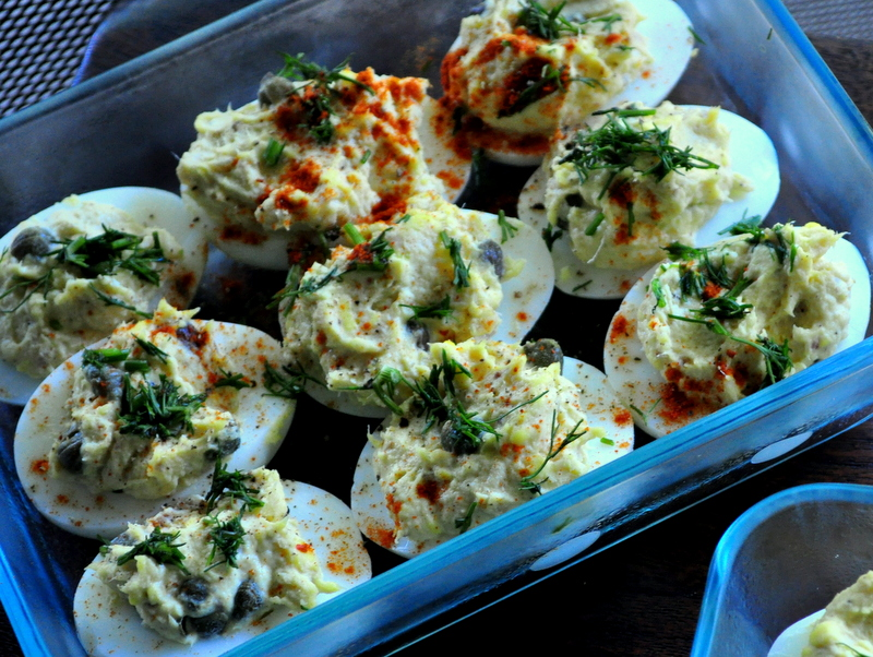 Paleo Smoked Trout Deviled Eggs
