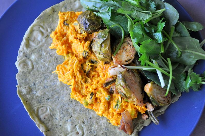 Pumpkin Chicken Curry wrap