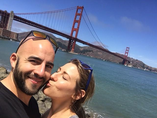 Golden Gate Bridge Kissing