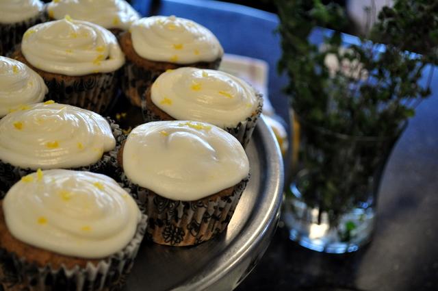 Lemon & Lavender Cupcakes with Rich Lavender Frosting