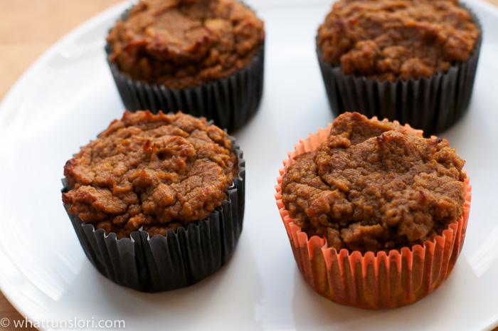 Pumpkin Gingerbread Paleo Muffins -whatrunslori.com