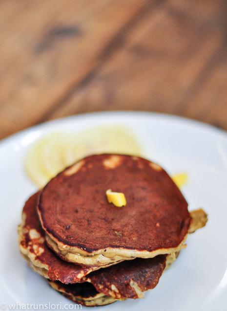 Lemon Chia Cake Batter Protein Pancakes