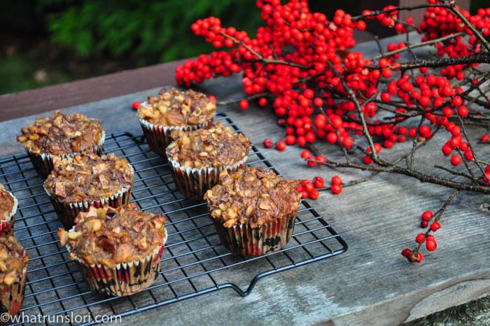 Healthy Apple Walnut Carrot Muffins