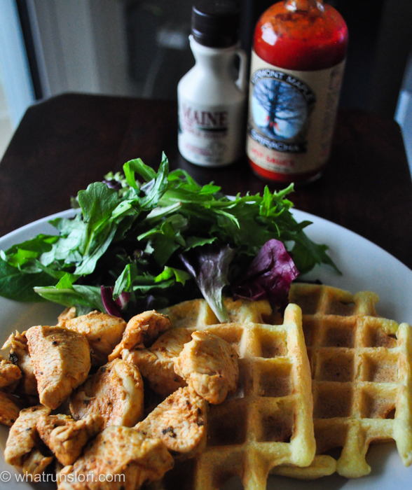 Paleo chicken and waffles - whatrunslori.com