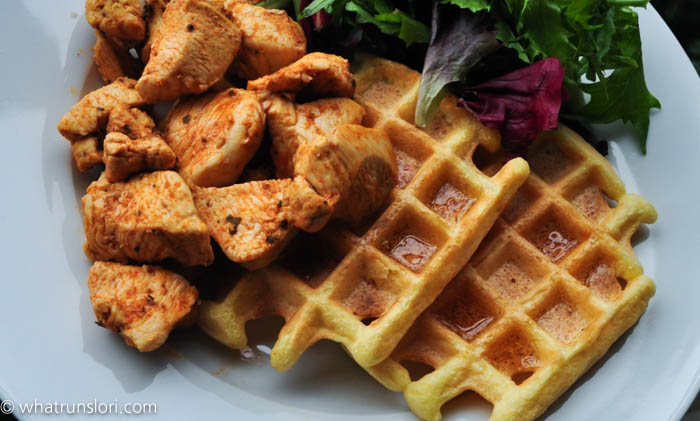 Healthy Paleo Chicken & Waffles - whatrunslori.com
