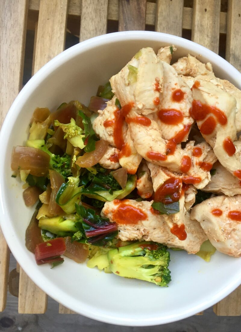 Paleo Sesame Chicken Power Bowl