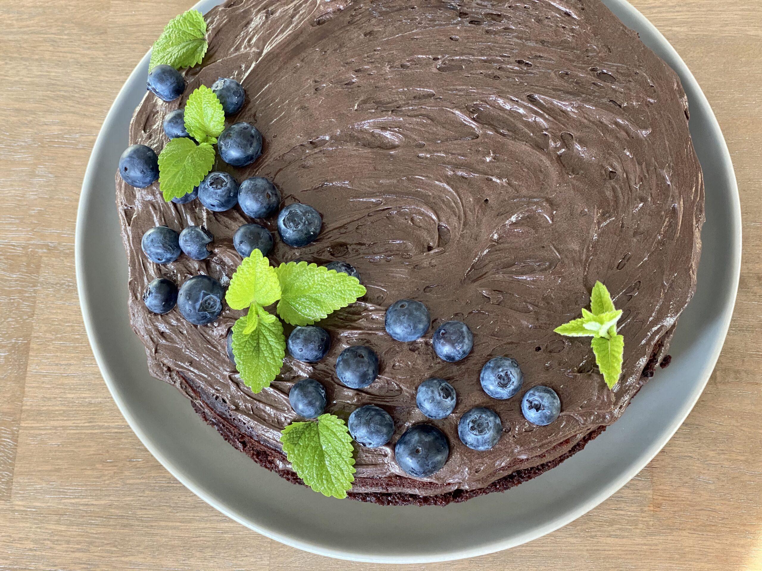 Decadent Chocolate Cake with Dark Rum Chocolate Frosting (vegan and gluten free!)
