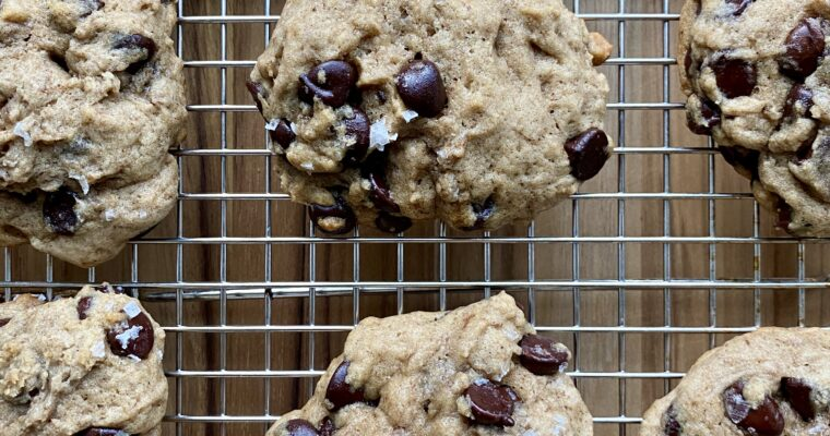 Sea Salt & Spice Sourdough Chocolate Chip Cookies