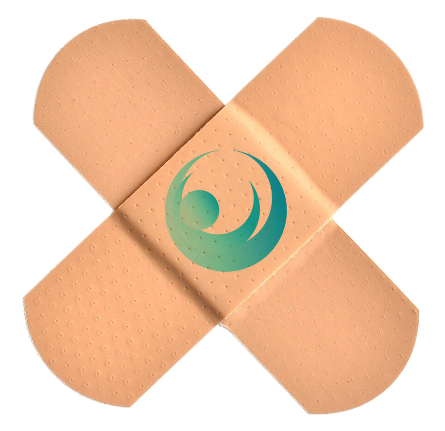 two bandages with the SEVHS logo