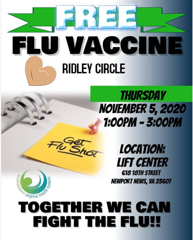 Free flu vaccine flyer