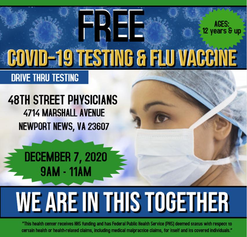 FREE Covid-19 Testing and Flu Vaccine
