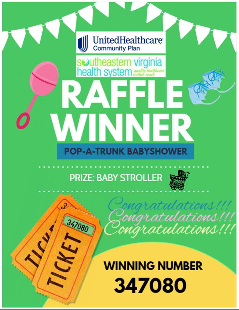 Raffle Winner announcement