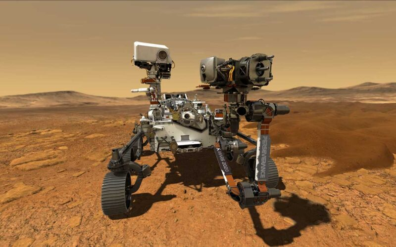 NASA perseverance rover on mars