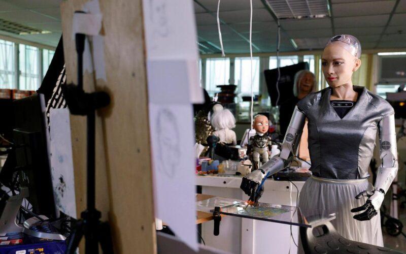 nft digital art sophia robot