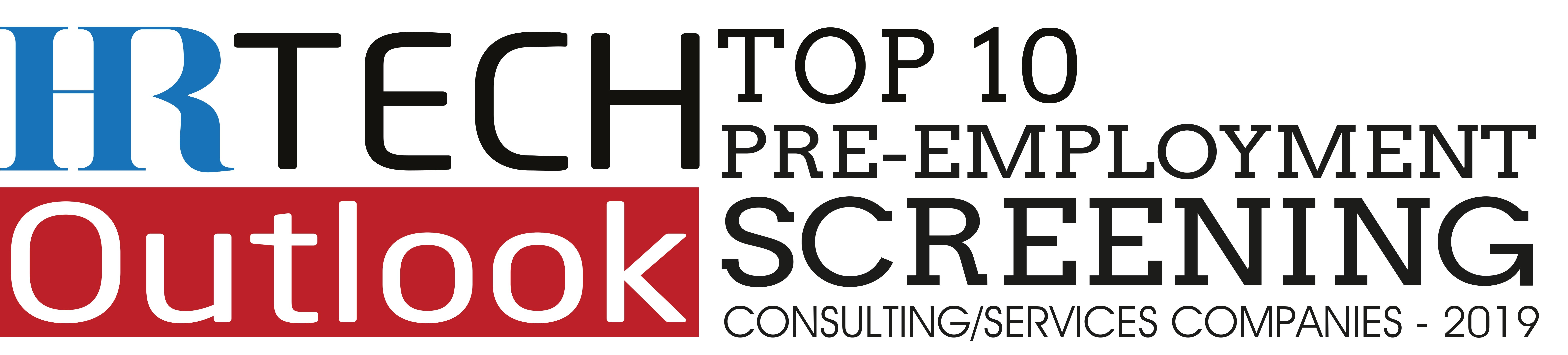 Top Ten Pre-Employment Screening Companies 2019