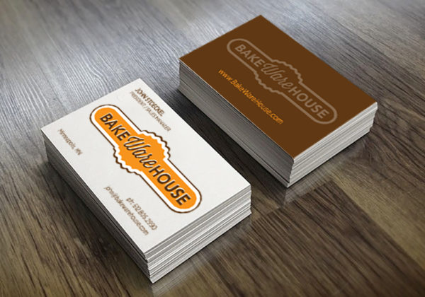 Bakewarehouse logo and business card