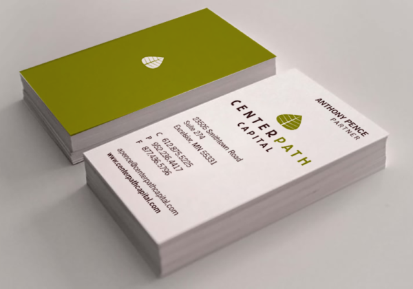 Centerpath Capital Logo and Business Card Design