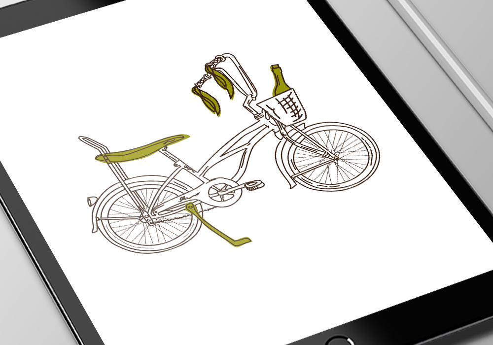 bike illustration close up