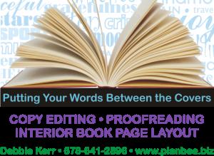 Copywriting, proofreading, interior page design