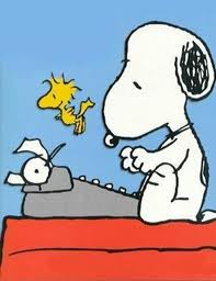 Snoopy Writing His Novel