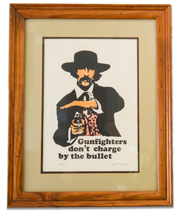 """""""Gunfighters don't charge by the bullet"""""""