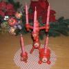 Swedish Christmas candle holder set