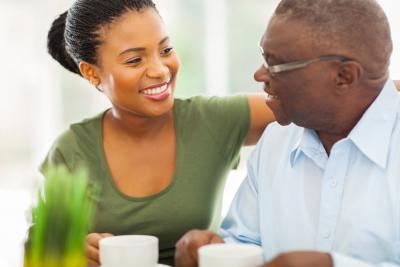 caregiver with elder man
