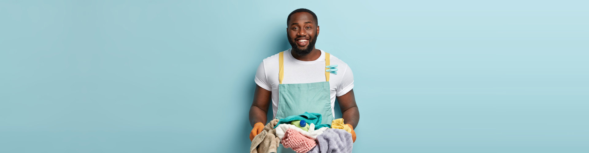 caregiver doing laundry