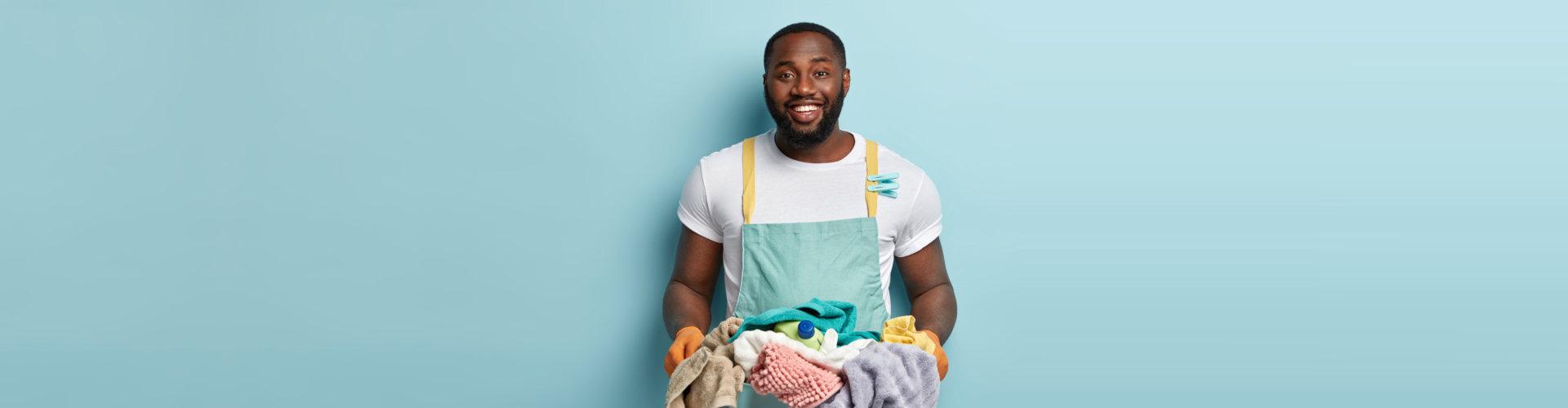 caregiver doing laundry