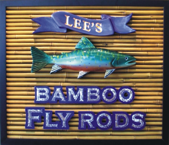 Specialty Hand-Carved Sign for Bamboo Fly Rods