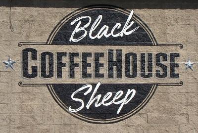 Exterior Wall Mural at Black Sheep Coffee House