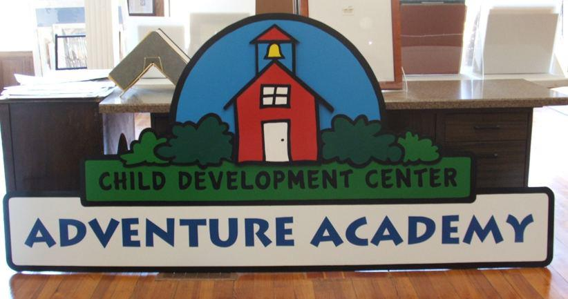 Adventure Academy Sign Pre-installation