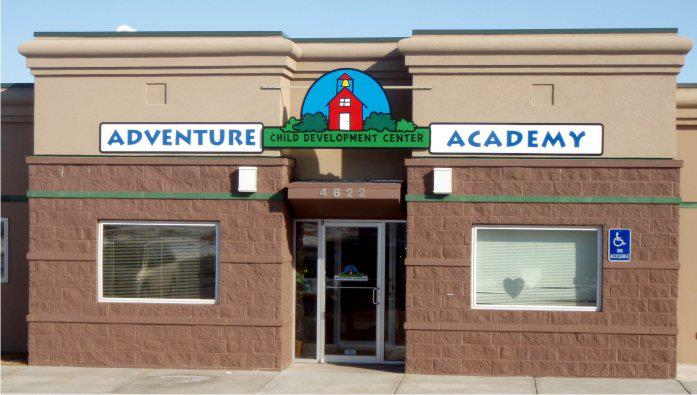 Adventure Academy Sign Post-installation