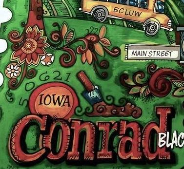 Close-up of Conrad, Iowa Mural
