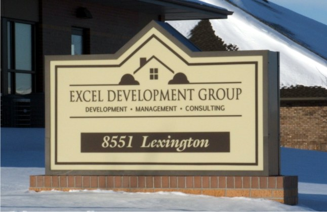 Lighted Brick Monument Sign