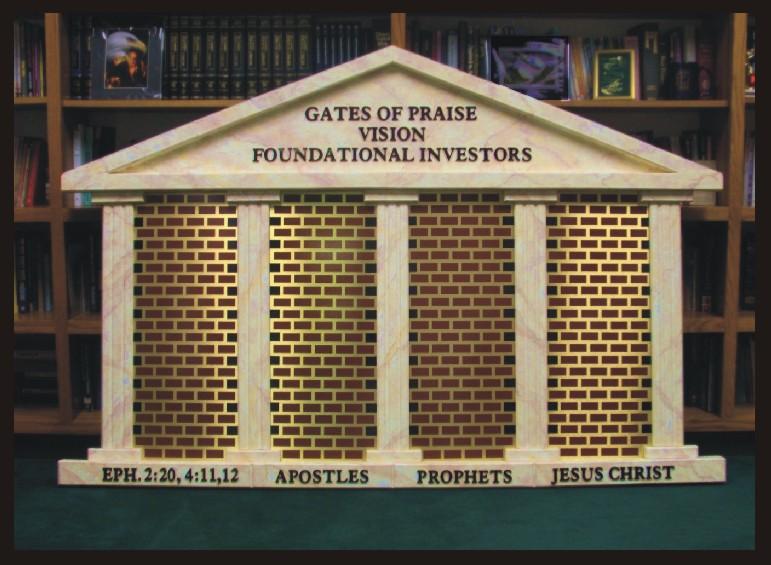 Specialty 3-D Panel for Church Vestibule