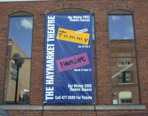 Haymarket Theatre Banner