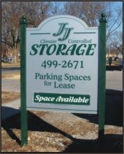 J J Storage Sign