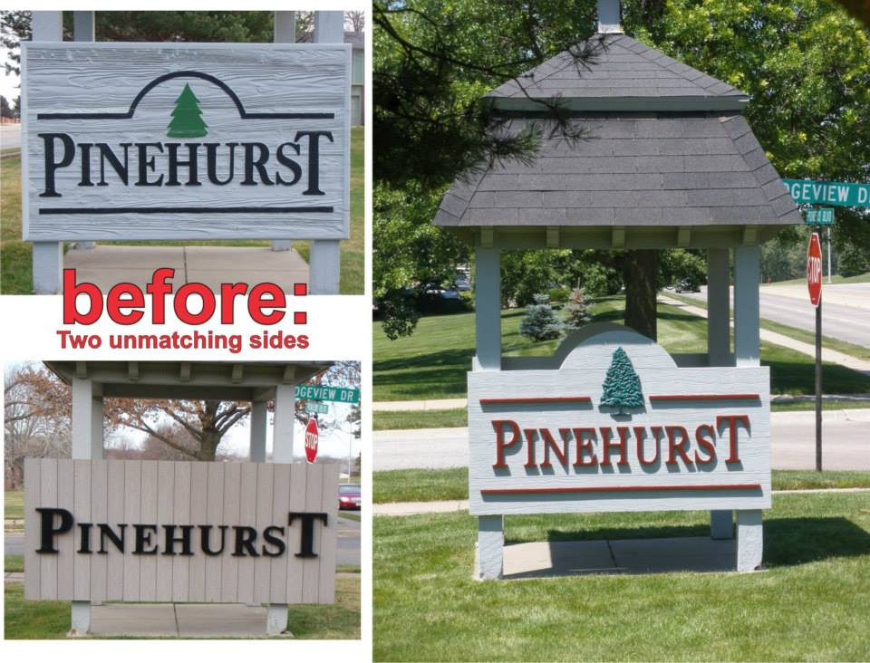 Pinehurst Signage Before & After