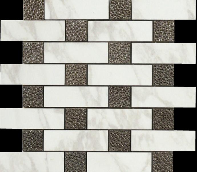 12.6×12.6 Brick Deco Mosaic Semi-Polished