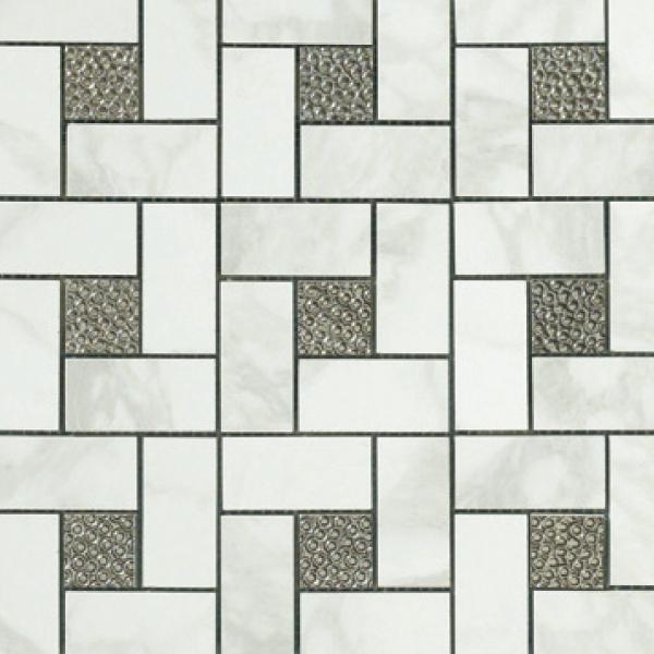12.6×12.6 Pinwheel Deco Mosaic Semi-Polished