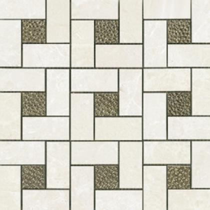 Bianco (12×12 Sheet) Pinwheel Deco Mosaic Polished