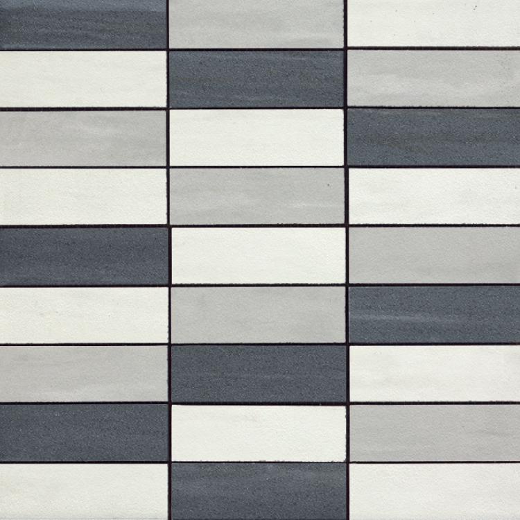 Cremo Bianco Brick Gr Ne Bi Mix Semi-Polished 1.2×4 (12×12 Sheet)