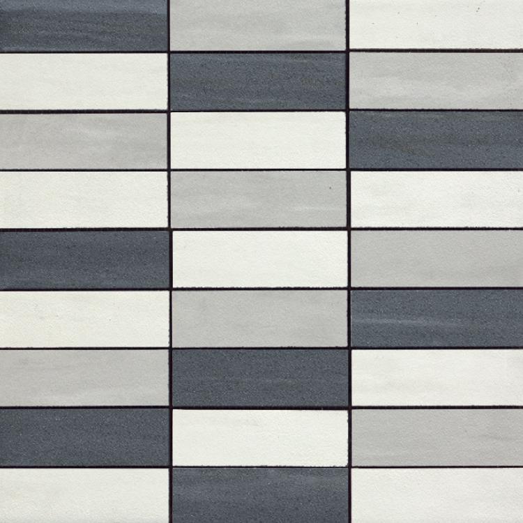 Cremo Perla Brick Gr Ne Bi Mix Semi-Polished 1.2×4 (12×12 Sheet)
