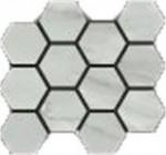 Bardiglio Grigio Natural Hexagon Mosaic 12 X 14 Sheet