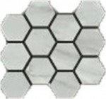 Bardiglio Grigio Polished Hexagon Mosaic 12 X 14 Sheet