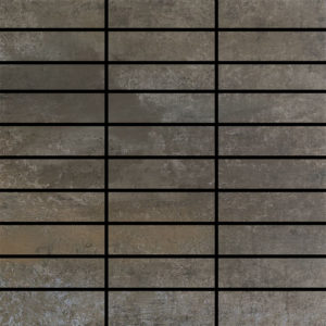 Contempo Graphite 1.25 X 4 Mosaic 12 X 12 Sheet