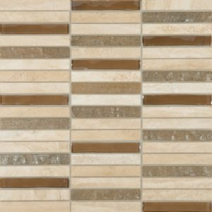 Cordoba Beige Linear 0.6 x 4 Mosaic 12 x 12 Sheet